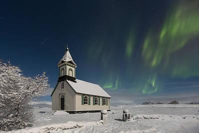 Photograph - Thingvellir Church by Sigurdur William Brynjarsson