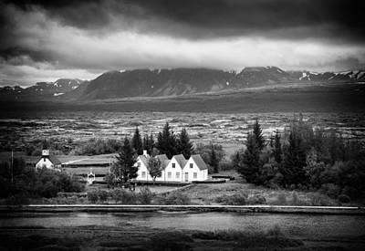 Granger Royalty Free Images - Thingvellir Iceland black and white Royalty-Free Image by Matthias Hauser