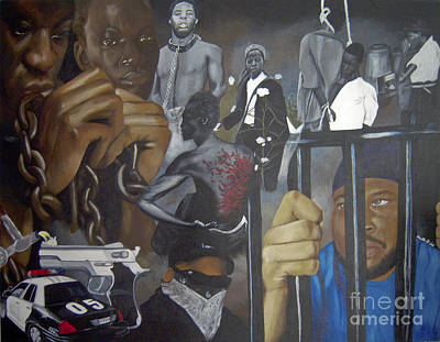 Painting - Think Black Man by Chelle Brantley