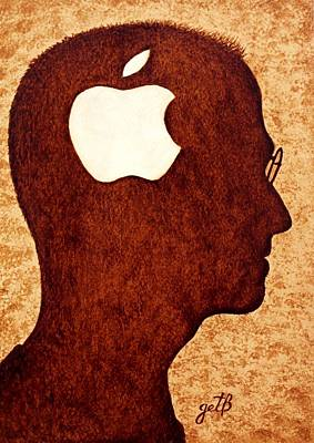 Think Different Tribute To Steve Jobs Art Print by Georgeta  Blanaru