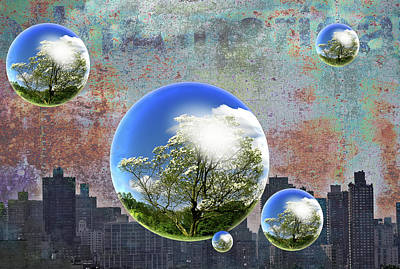 Digital Art - Think Green by Rick Mosher