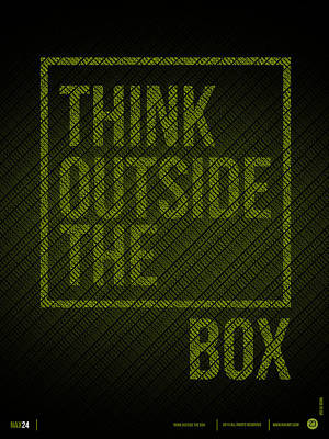Inspirational Mixed Media - Think Outside Of The Box Poster by Naxart Studio