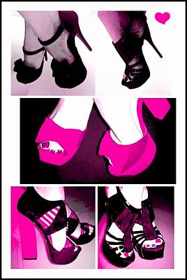 Digital Art - Think Pink by Art by Dance