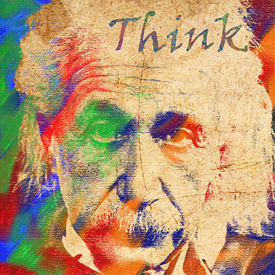Digital Art - Think by Soumya Bouchachi