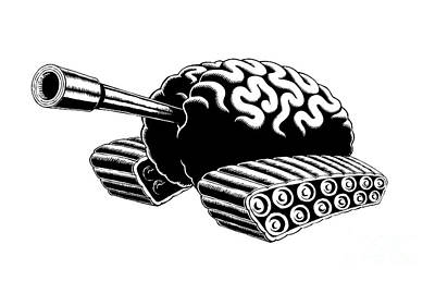 Drawing - Think Tank by M o R x N