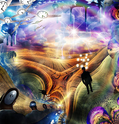 Surrealism Digital Art Rights Managed Images - Thinking Royalty-Free Image by Bruce Rolff