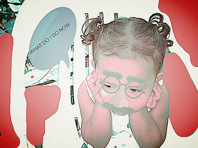 Etc. Digital Art - Thinking by HollyWood Creation By linda zanini