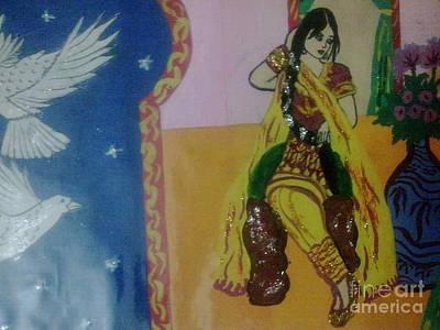 Syeda Ishrat Painting - Thinking In The Room by Syeda Ishrat