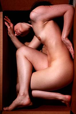 Sensual Photograph - Thinking Inside The Box by Joe Kozlowski
