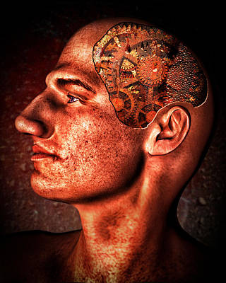 Steampunk Royalty-Free and Rights-Managed Images - Thinking Man by Bob Orsillo