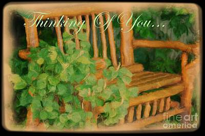 Digital Art - Thinking Of You Card by Lorelle Gromus