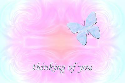 Digital Art - Thinking Of You - Greeting Card by Kristi Kruse