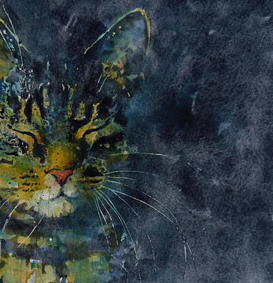 Tabby Cat Painting - Thinking Of You by Paul Lovering