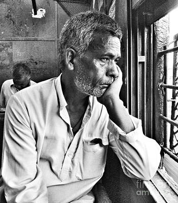 Thinking Art Print by Sumit Jain
