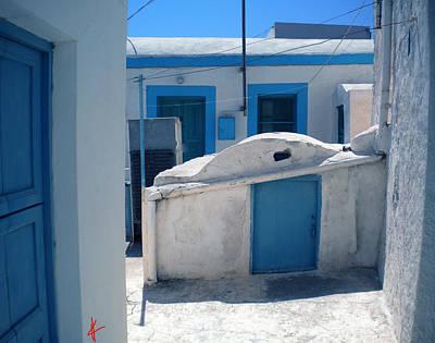 Thirasia Santorini Island Hause Art Print