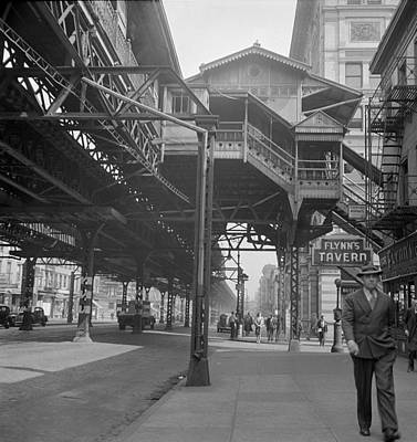 Third Avenue Elevated Railway, New Art Print by Science Source