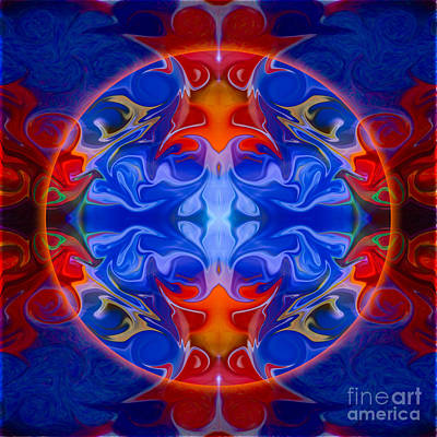 Digital Art - Third Eye Abstract Living Art By Omaste Witkowski by Omaste Witkowski
