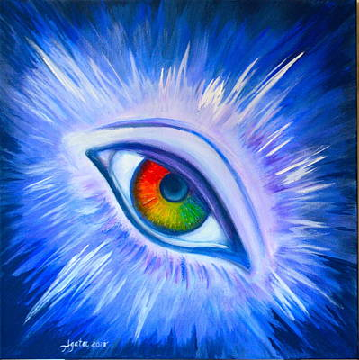 Painting - Third Eye Diamond by Agata Lindquist