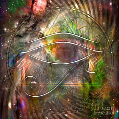 Horus Digital Art - Third Eye by Mynzah Osiris