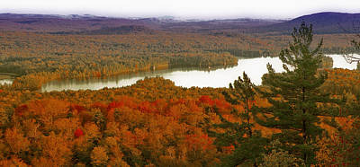 Bald Mountain Photograph - Third Lake From Bald Mountain - Old Forge New York by David Patterson