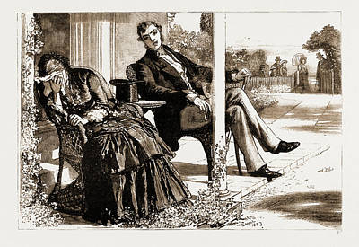 Crying Drawing - Thirlby Hall, Drawn By William Small, 1883 Here They All by Litz Collection