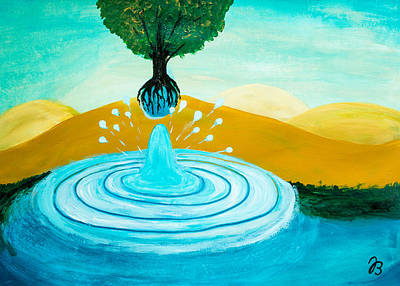 Painting - Thirsty Tree 1 by Jutta B