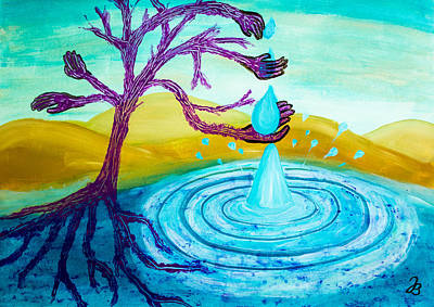 Painting - Thirsty Tree 2 by Jutta B