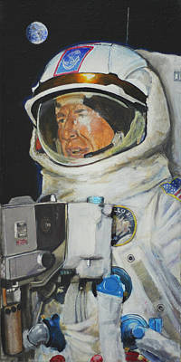Painting - Thirteens Dream- Jim Lovell  by Simon Kregar