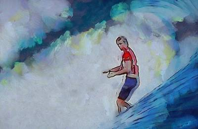 Surfers Mixed Media - Thirty Seconds Of Freedom by Dan Sproul