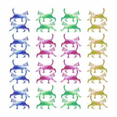 Digital Art - Thirty Two Cats by Barbara Moignard