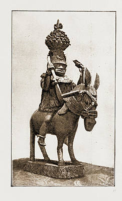 This Casting Of A Former King Of Benin Was Made By Natives Art Print by Litz Collection
