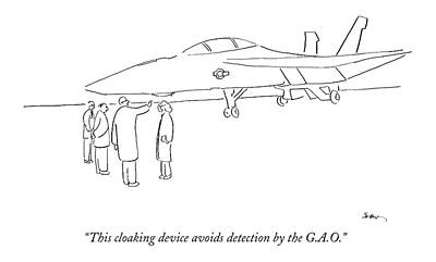 Military Drawing - This Cloaking Device Avoids Detection by Michael Shaw
