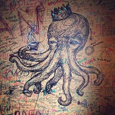 Octopus Wall Art - Photograph - This Dude Is Chillin On The Wall Of The by Stephanie Tomlinson