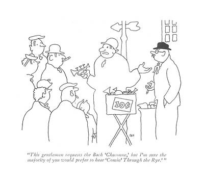 Toy Store Drawing - This Gentleman Requests The Bach 'chaconne by Gardner Rea
