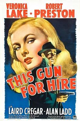 This Gun For Hire - 1942 Art Print by Georgia Fowler