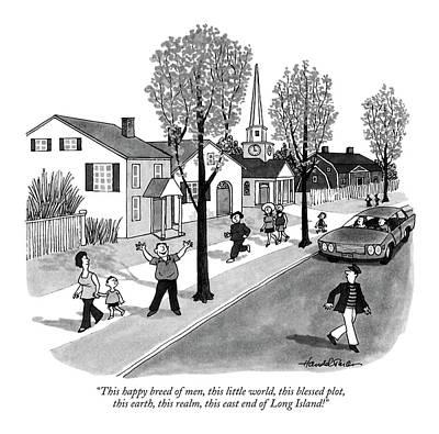 This Happy Breed Of Men Art Print by J.B. Handelsman