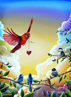 Chickadee Painting - This Heart Of Mine by Cindy Thornton