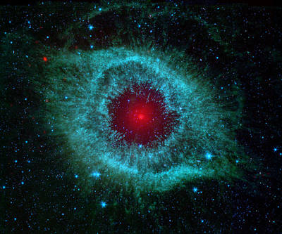 This Infrared Image Of Helix Nebula Art Print