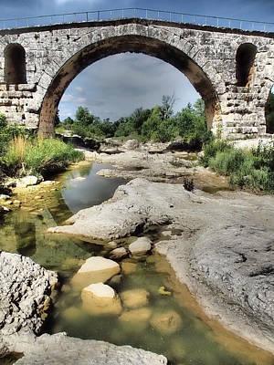 This Is A Roman Bridge, Called Pont Art Print by Julie Eggers