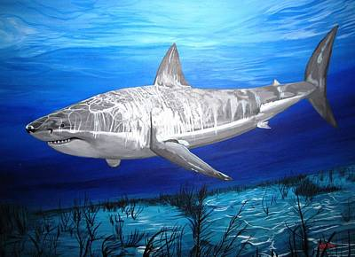 Painting - This Is A Shark by Kevin F Heuman