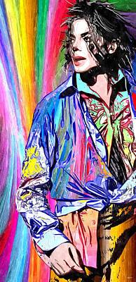 Michael Jackson Mixed Media - This Is It by Daniel Janda