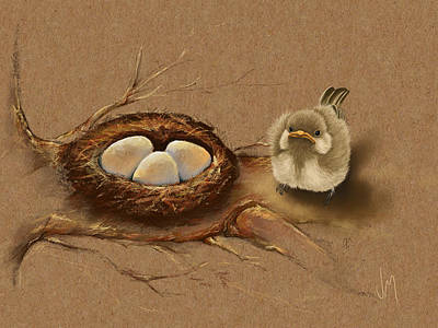 Ipad Painting - This Is My Nest? by Veronica Minozzi