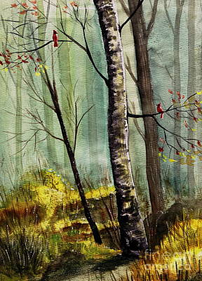 Autumn Scene Painting - This Is My Territory by Marilyn Smith