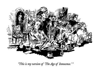 Pretentious Drawing - This Is My Version Of 'the Age Of Innocence.' by William Hamilton