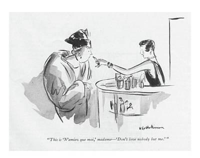 This Is 'n'aimez Que Moi Art Print by Helen E. Hokinson