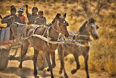 Gravel Road Photograph - This Is Namibia No. 23 - Going To Town The Old Fashioned Way by Paul W Sharpe Aka Wizard of Wonders
