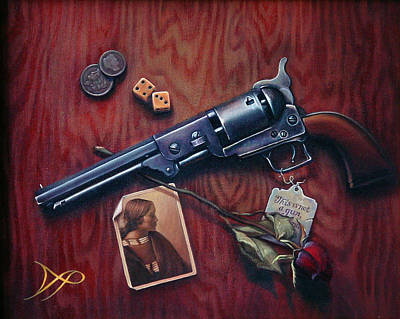 Coins Painting - This Is Not A Gun by Patrick Anthony Pierson