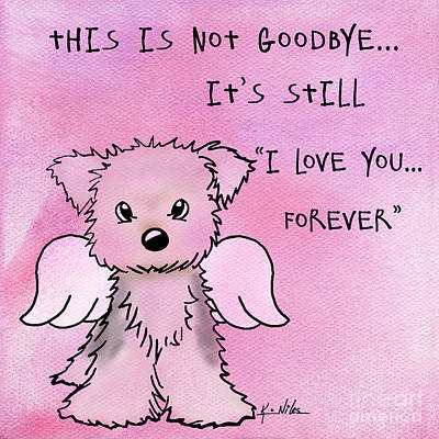 Goodbye Mixed Media - This Is Not Goodbye by Kim Niles