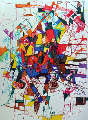 Creativity Drawing - This Is Not The Only Time 1 by David Baruch Wolk