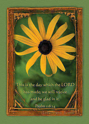 This Is The Day Sunflowers Art Print by Denise Beverly